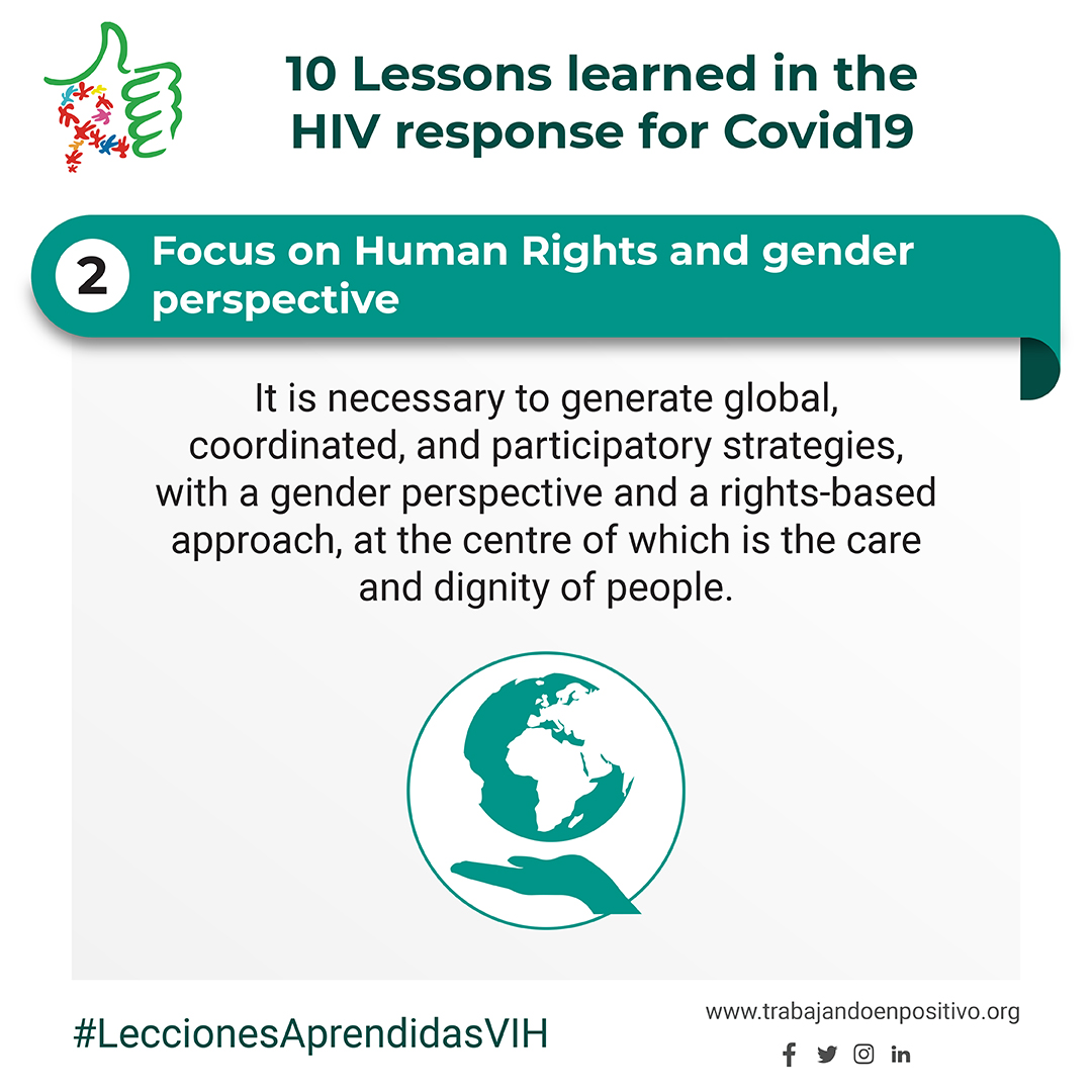 2. Focus on Human Rights and gender perspective