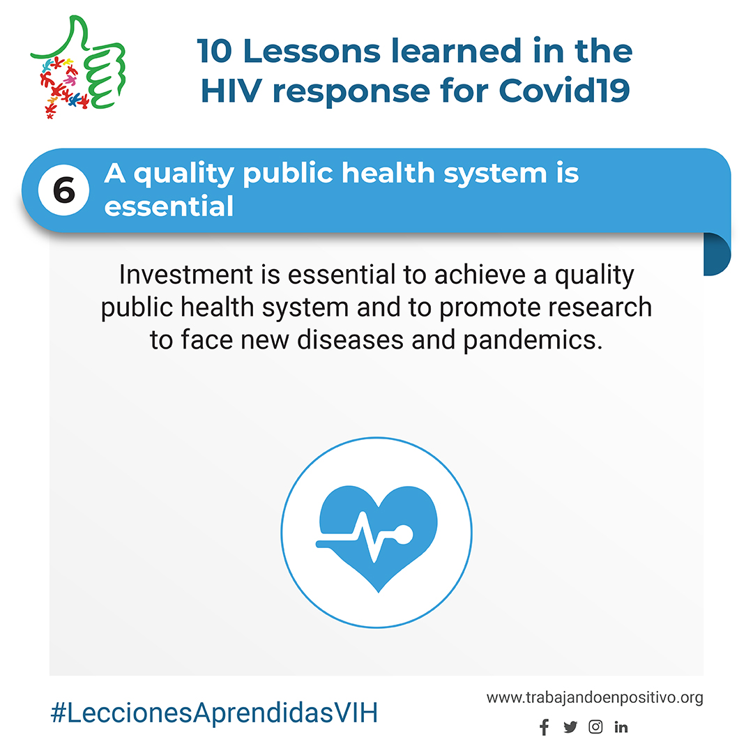 6. A quality public health system is essential