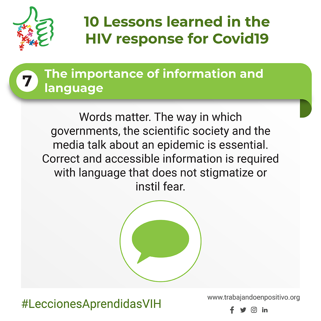 7. The importance of information and language