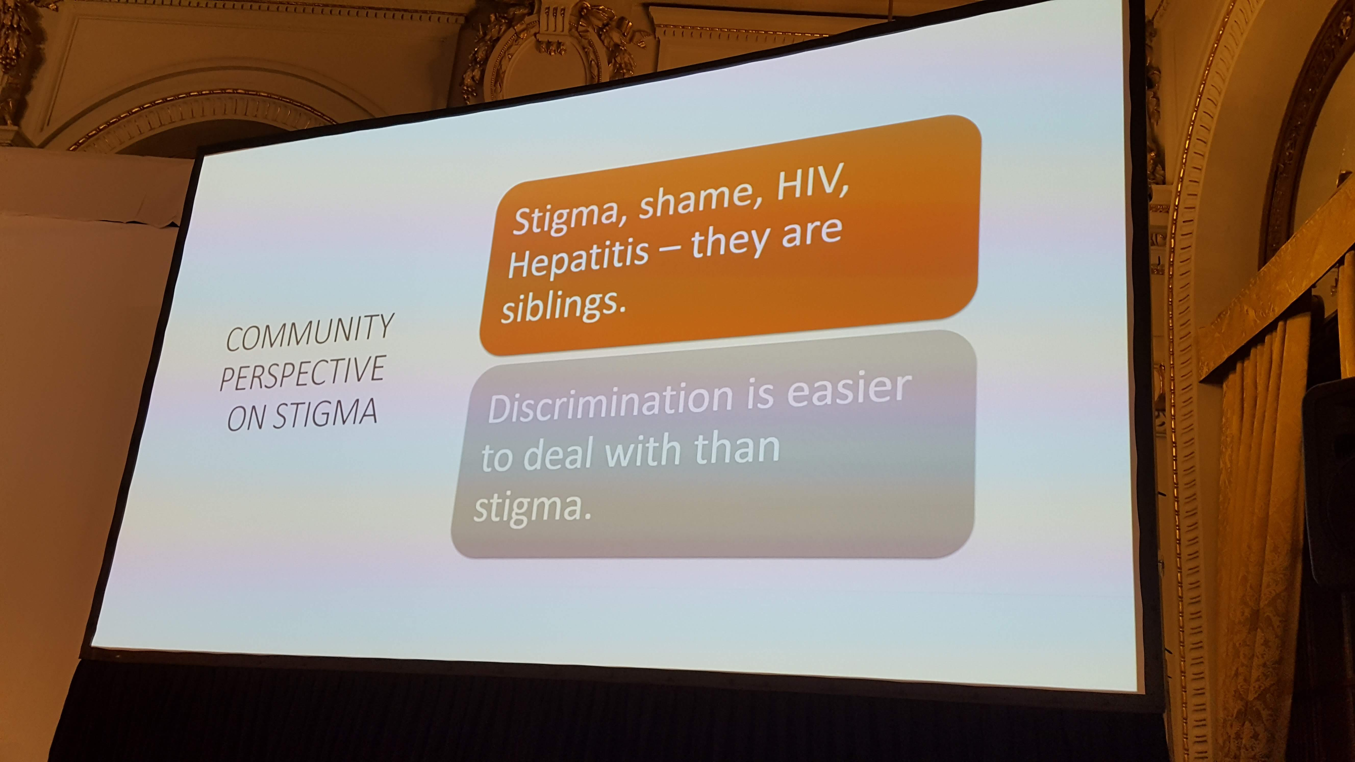 Community Perspective on Stigma, HepHIV 2019