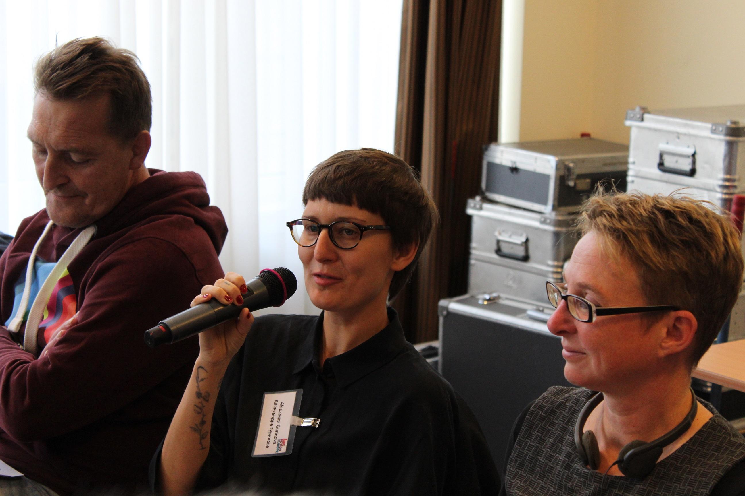 Dirk Schäffer, Alexandra Gurinova and Silke Klumb, Deutsche AIDS-Hilfe