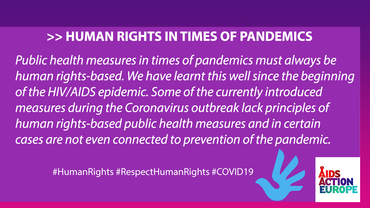 Public health measures in times of pandemics must always be human rights-based. Share on Twitter 2020