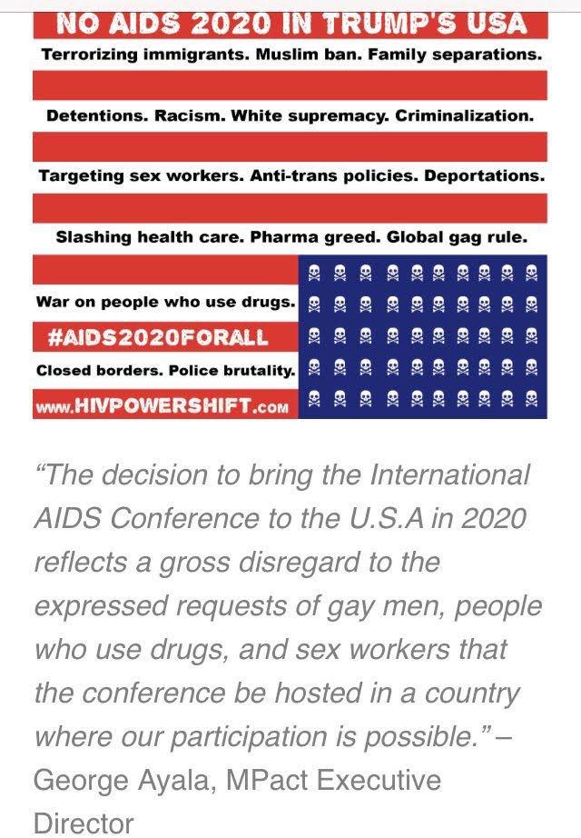 NO AIDS 2020 in TRUMPS AMERICA