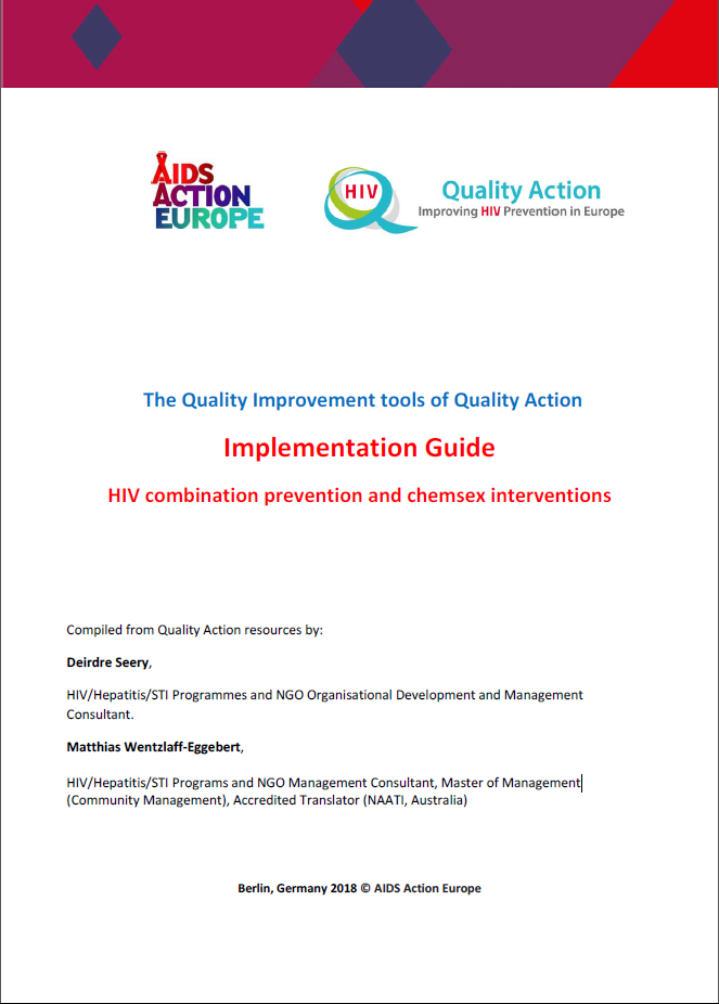 The Quality Improvement tools of Quality Action Implementation Guide - HIV combination prevention and chemsex interventions_cover_web