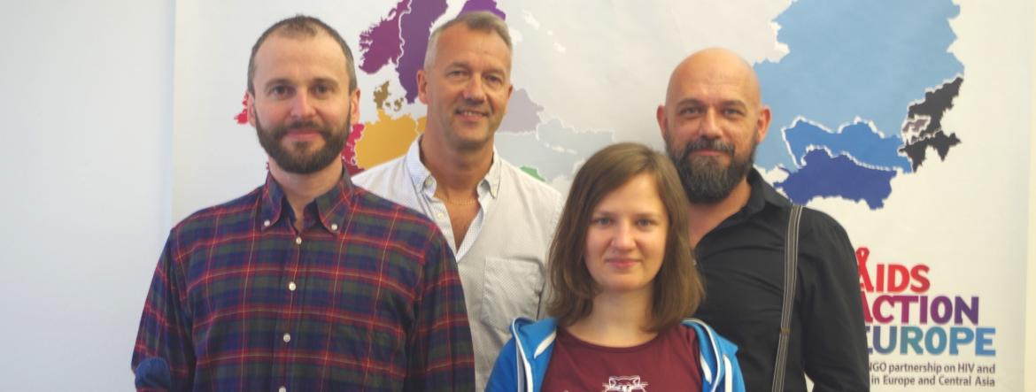 AIDS Action Europe Office: Executive Coordinator Michael Krone, Communications Coordinator Oksana Panochenko, Project Manager Ferenc Bagyinszky, Communications Manager Alexey Gorin