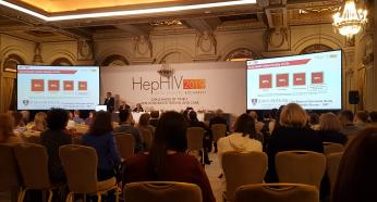 HepHIV 2019 Conference in Bucharest, Romania, Podium