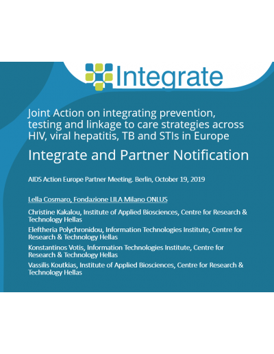 Integrate and Partner Notification 2019