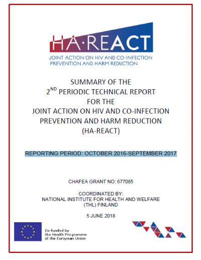 SUMMARY OF THE 2nd PERIODIC TECHNICAL REPORT JOINT ACTION ON HIV AND CO-INFECTION PREVENTION AND HARM REDUCTION