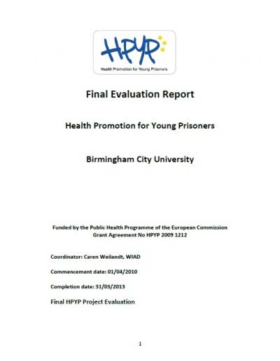 Health Promotion for Young Prisoners (HPYP): Final Evaluation Report
