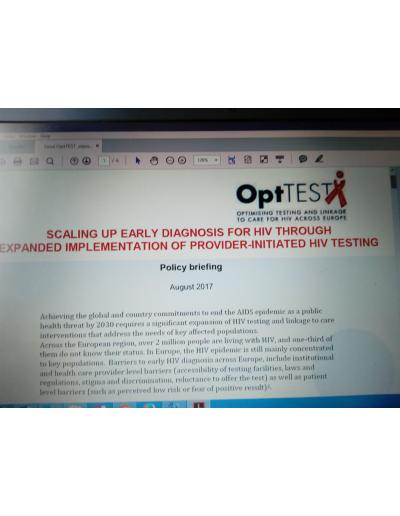SCALING UP EARLY DIAGNOSIS FOR HIV THROUGH  EXPANDED IMPLEMENTATION OF PROVIDER-INITIATED HIV TESTING