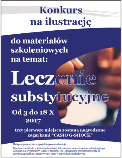 Poster: Contest to illustrate the documents on OST in prisons in Poland