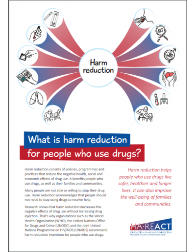 What is Harm Reduction for PWUD - HA-REACT Brochure
