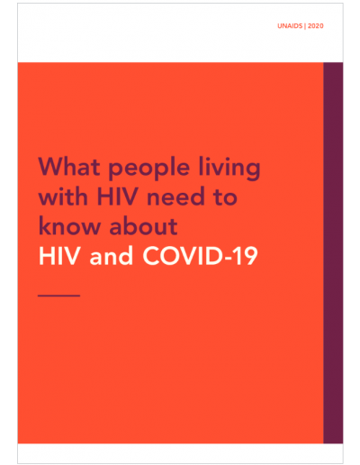 What people living with HIV need to know about HIV and COVID-19, 2020