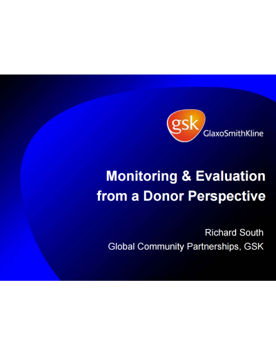 monitoring and evaluation presentation
